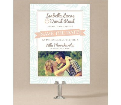 Bali Palms Save The Date Cards