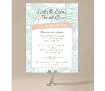 Bali Palms Engagement Invitations