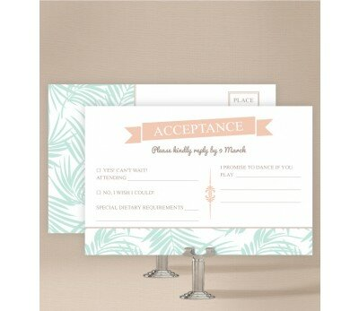 Bali Palms Wedding Response Card