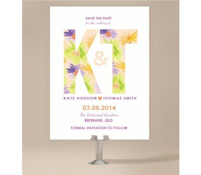 Flower Bed Save The Date Cards