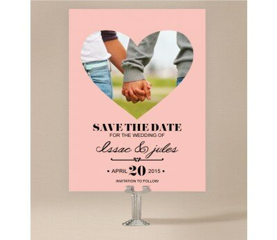 Photo Heart Save The Date Cards
