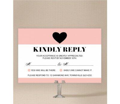 Photo Heart Wedding Response Card