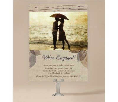 Rustic Engagement Invitations