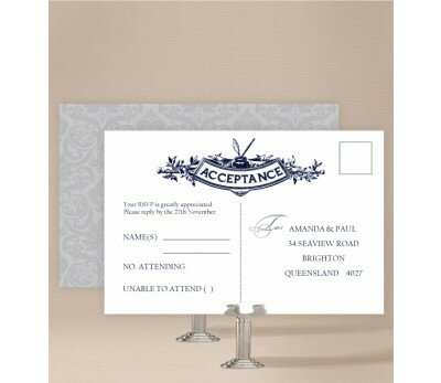 Shabby Vintage Wedding Response Card