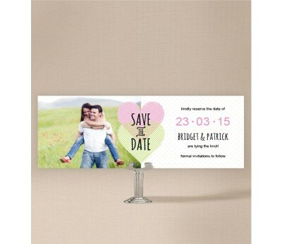 Two Hearts Save The Date Cards