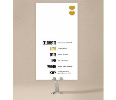 Typo Engagement Invitations
