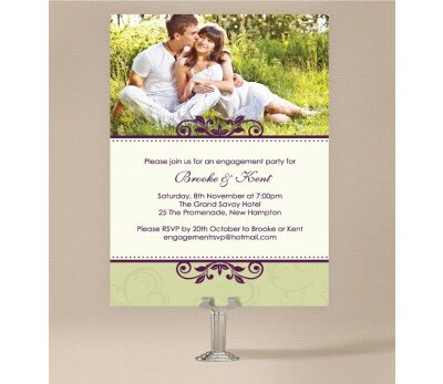 Winery Engagement Invitations