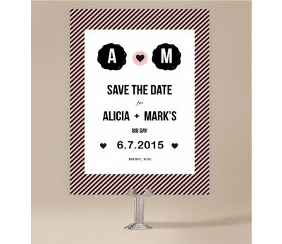 Cute Stripe Save The Date Cards