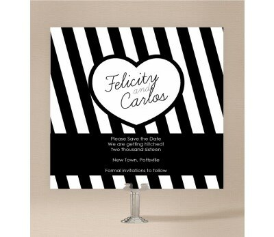 Bold Stripes Save The Date Cards