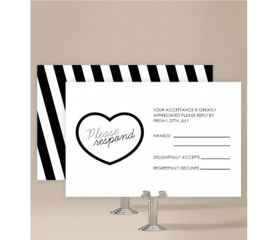 Bold Stripes Wedding Response Card