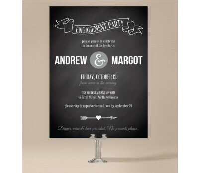 Chalkboard Engagement Invitations
