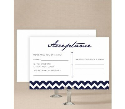 Chevron Wedding Response Card
