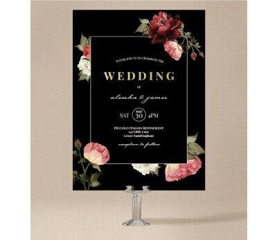 Crimson Wedding Invitation