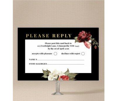 Crimson Wedding Response Card