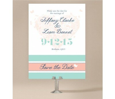 Decorative Heart Save The Date