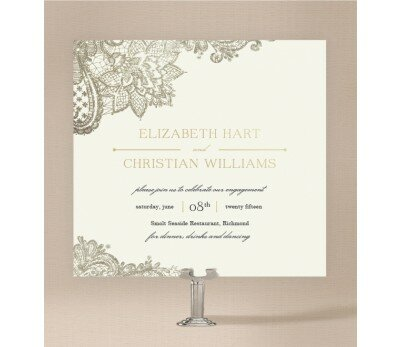 Graceful Engagement Invitations