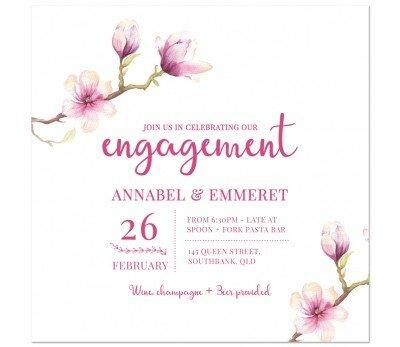Magnolia Engagement Invitations