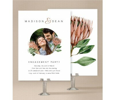Native Beauty Engagement Invitations