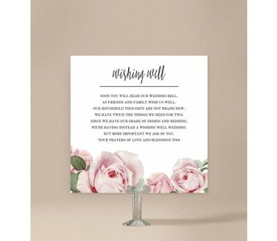 Pink Roses Wishing Well Card