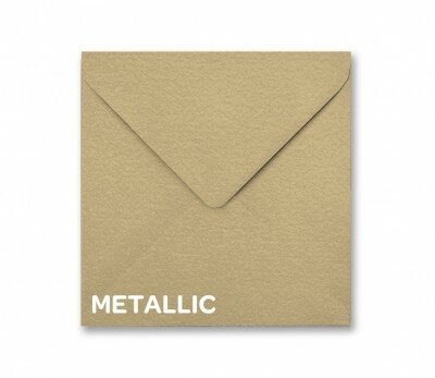 Metallic Soft Gold Square Envelope