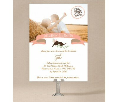 The Lovely Birds Engagement Invitations
