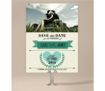 Vintage Banner Save The Date Cards