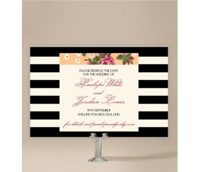 Vintage Stripe Save The Date