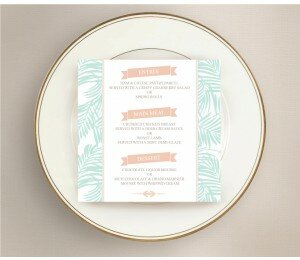 Bali Palms Wedding Menu
