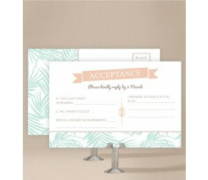 Bali Palms Wedding Response Card