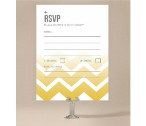Fading Chevron Wedding Response Card