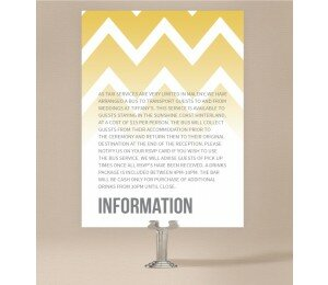 Fading Chevron Extra Information Card