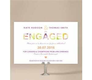 Flower Bed Engagement Invitations