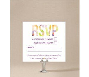Flower Bed Wedding Response Card