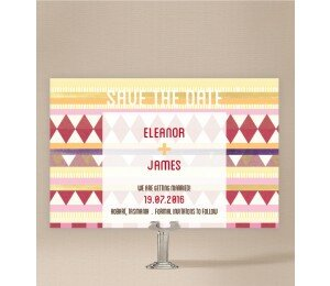Kilim Save The Date Cards