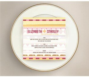 Kilim Wedding Menu