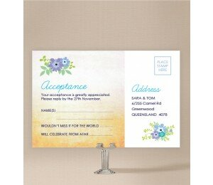 Posies Wedding Response Card