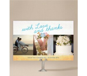 Posies Wedding Thank You Card