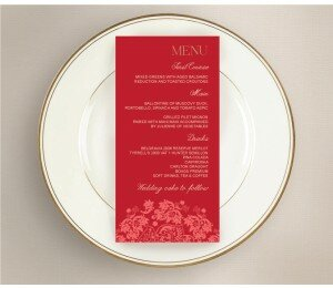 Rustic Lace Wedding Menu