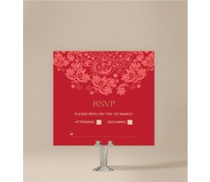 Rustic Lace Wedding Response Card