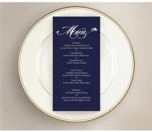 Shabby Vintage Wedding Menu
