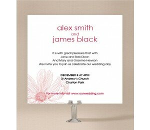 Simple Flower Wedding Invitations