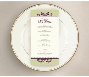 Winery Wedding Menu