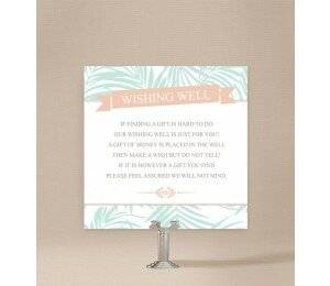 Bali Palms Wedding Wishing Well Card
