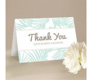Bali Palms Thank You Card