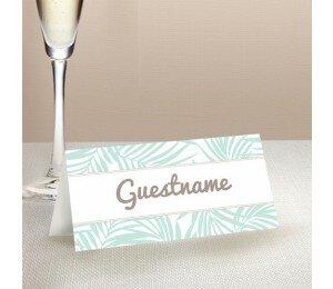 Bali Palms Wedding Place Card