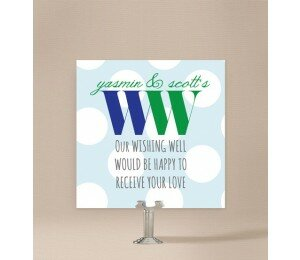 Big & Bold Wedding Wishing Well Card