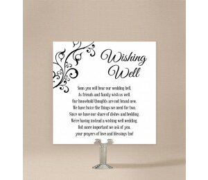 Black and White Wishing Well Card