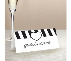 Bold Stripes Place Card