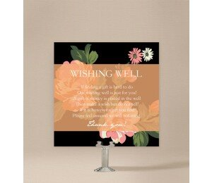 Bouquet Wedding Wishing Well Card