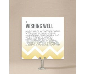 Fading Chevron Wishing Well Card